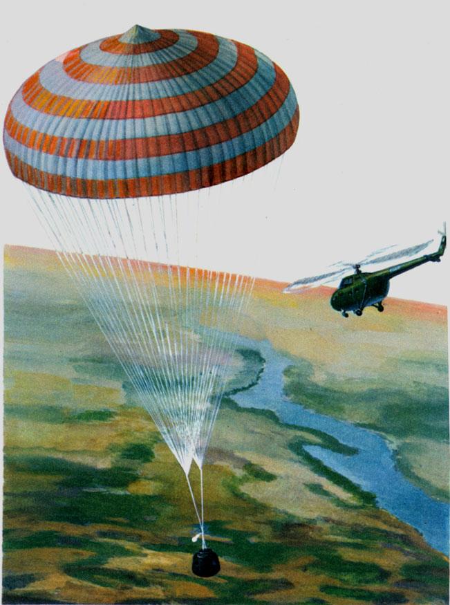ловить на парашут