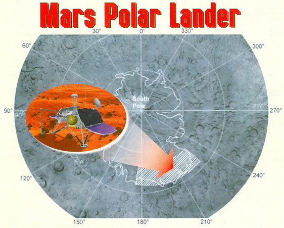 the mars polar lander and the landscape of mars Photo about mars polar prospector drilling rig in transit configuration illustration of polar, landscape, exploration - 21653445.