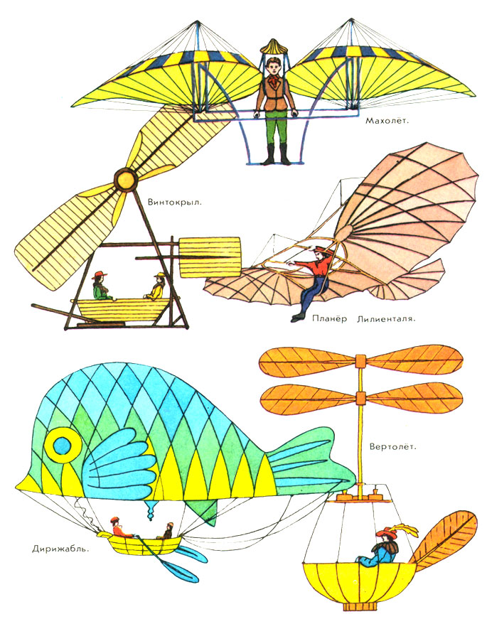 Картинки летательных аппаратов с названиями